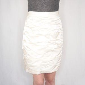 Monique Lhuillier Collection Off White Mini Skirt